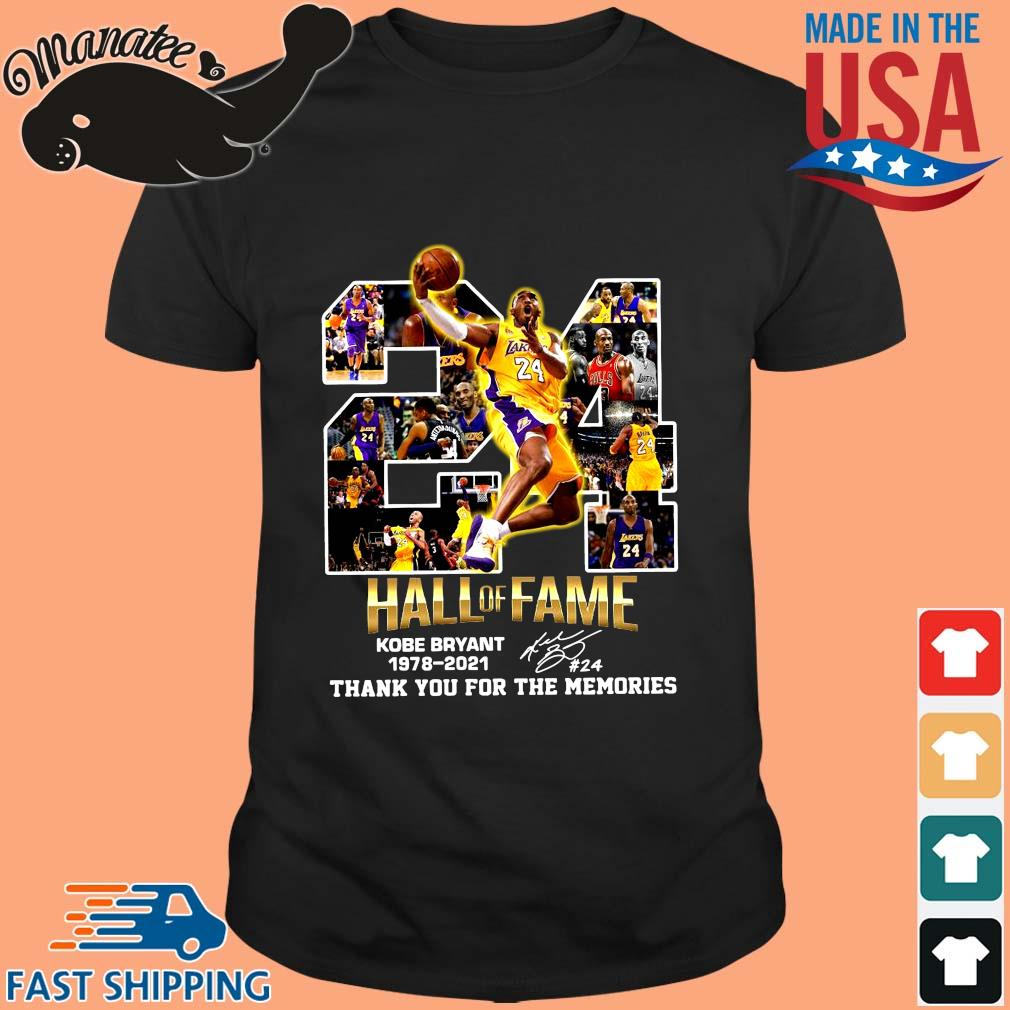 24 hall of fame Kobe Bryant 1978-2021 thank you for the memories signature shirt