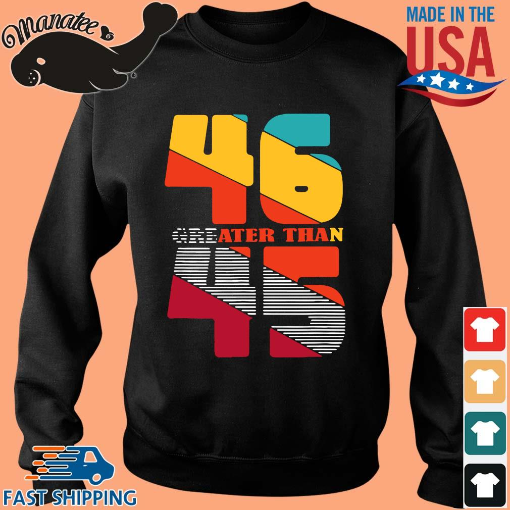46 gre ater than 45 s Sweater den