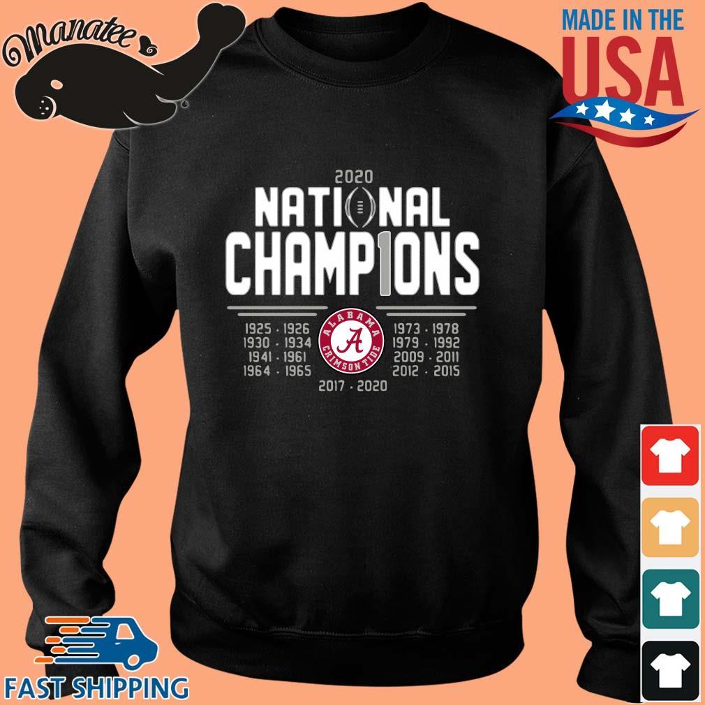 Alabama Crimson Tide 2020 national champions 2017-2020 tee s Sweater den