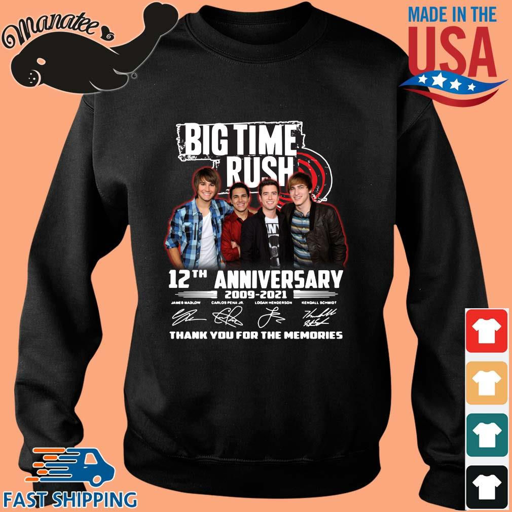 Big Time Rush 12th anniversary 2009-2021 thank you for the memories signatures s Sweater den