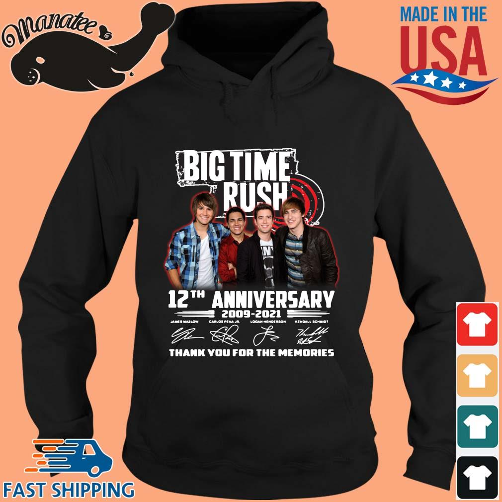 Big Time Rush 12th anniversary 2009-2021 thank you for the memories signatures s hoodie den