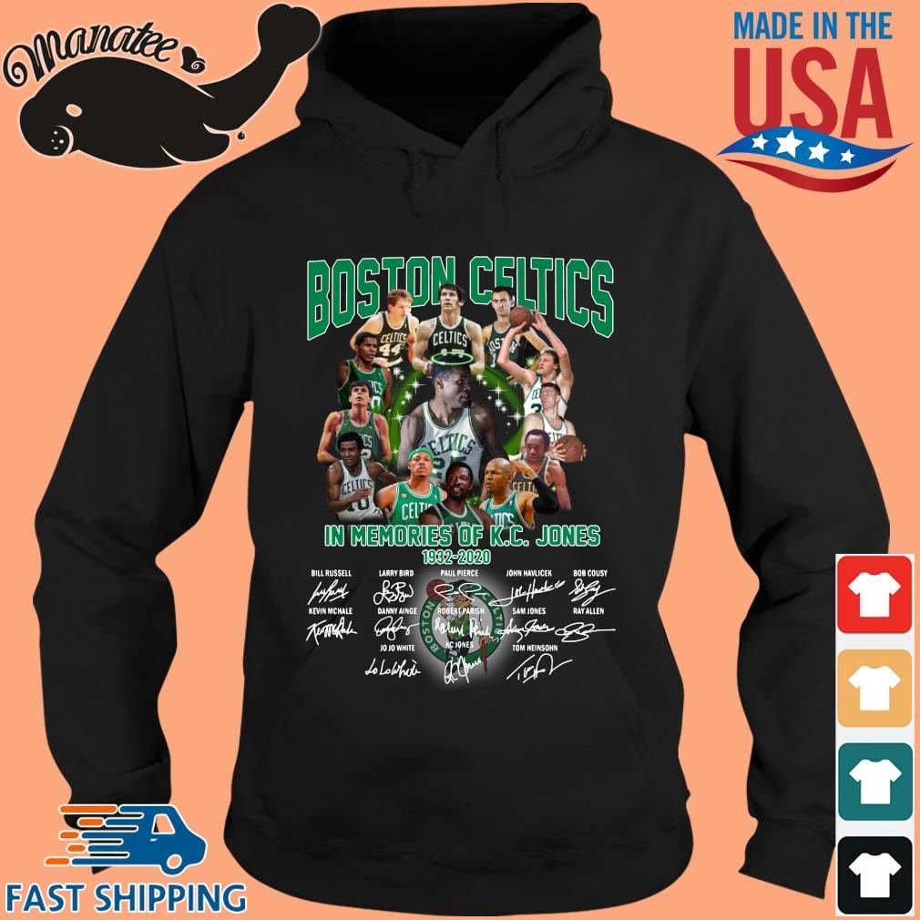Boston Celtics in memories of KC Jones signatures s hoodie den