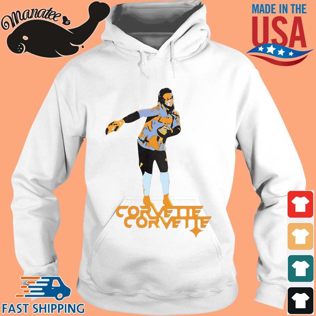 Corvette s hoodie trang