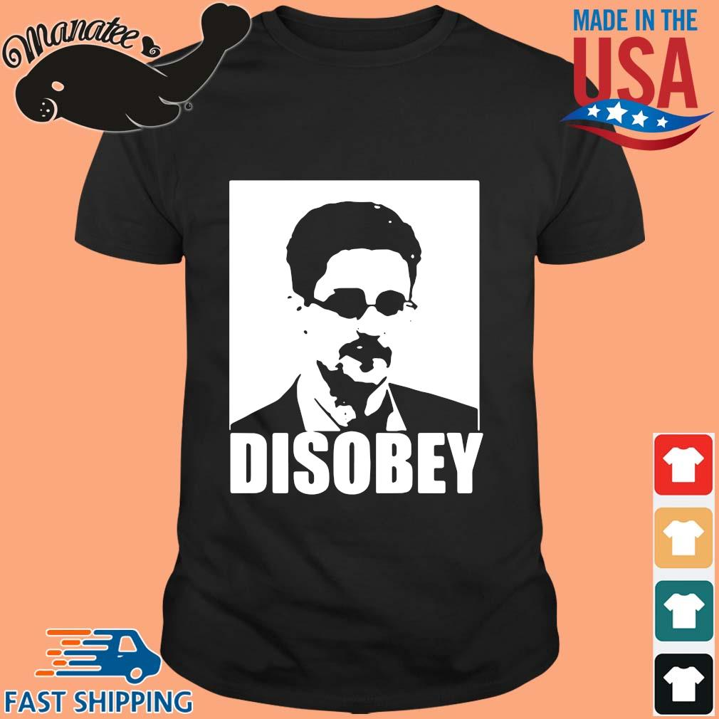 Edward Snowden disobey shirt