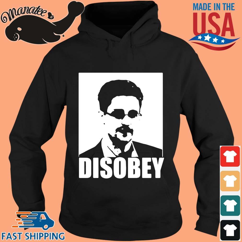 Edward Snowden disobey s hoodie den