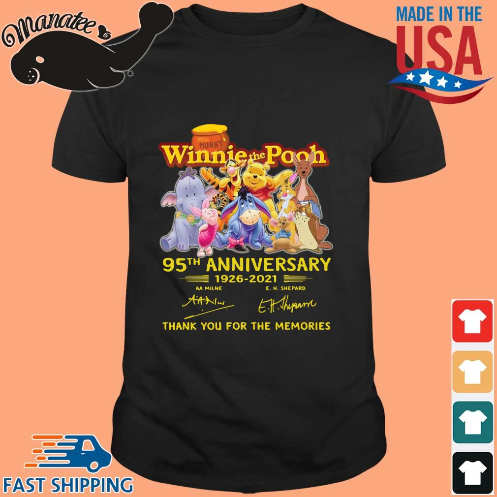 Hunny Winnie The Pooh 95th anniversary 1926-2021 thank you for the memories signatures shirt