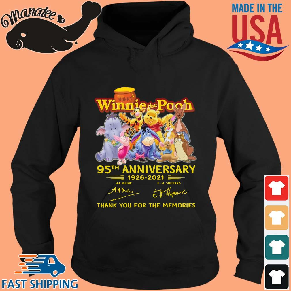 Hunny Winnie The Pooh 95th anniversary 1926-2021 thank you for the memories signatures s hoodie den