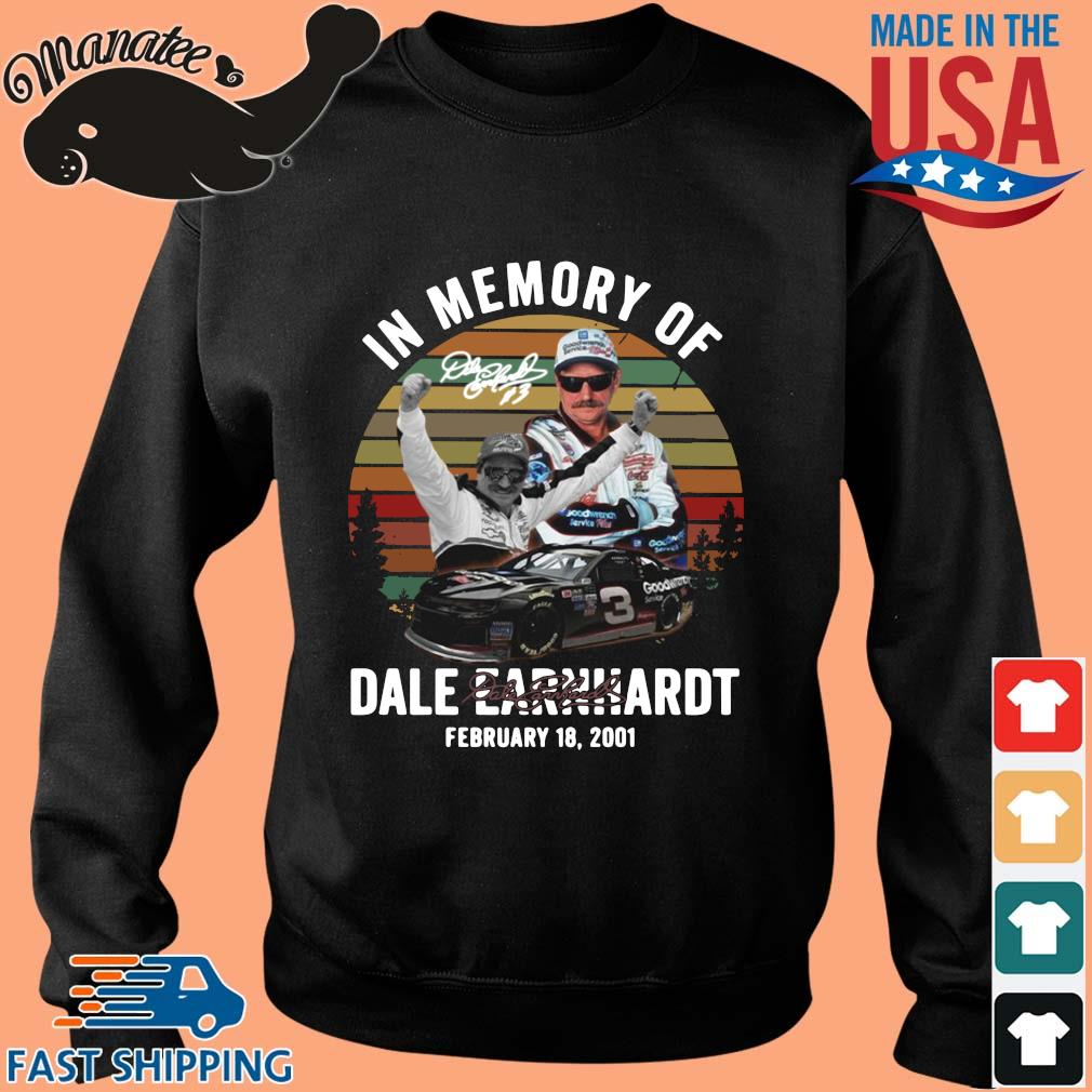 In memory of Dale Earnhardt february 18 2021 signature vintage shirts Sweater den