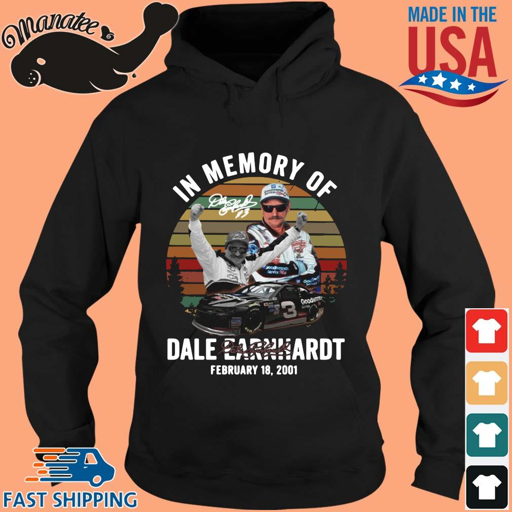 In memory of Dale Earnhardt february 18 2021 signature vintage shirts hoodie den