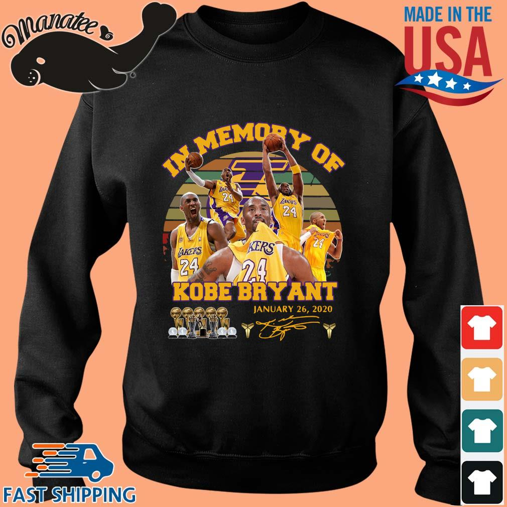 In memory of Kobe Bryant january 26 2020 signature vintage s Sweater den