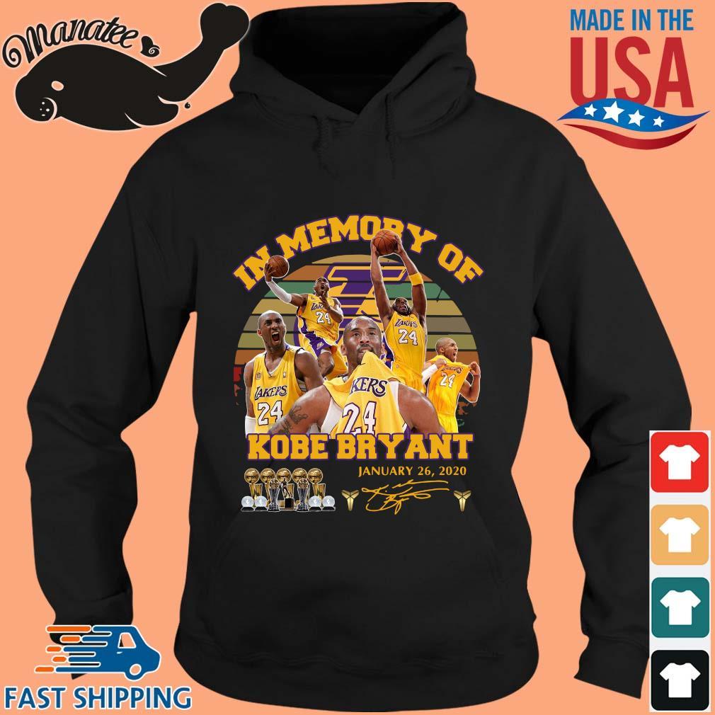 In memory of Kobe Bryant january 26 2020 signature vintage s hoodie den