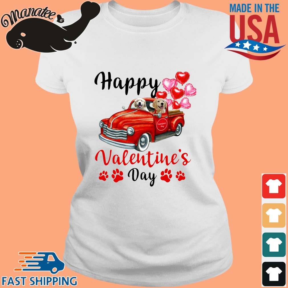 Labrador driving truck happy Valentine's day s Ladies trang