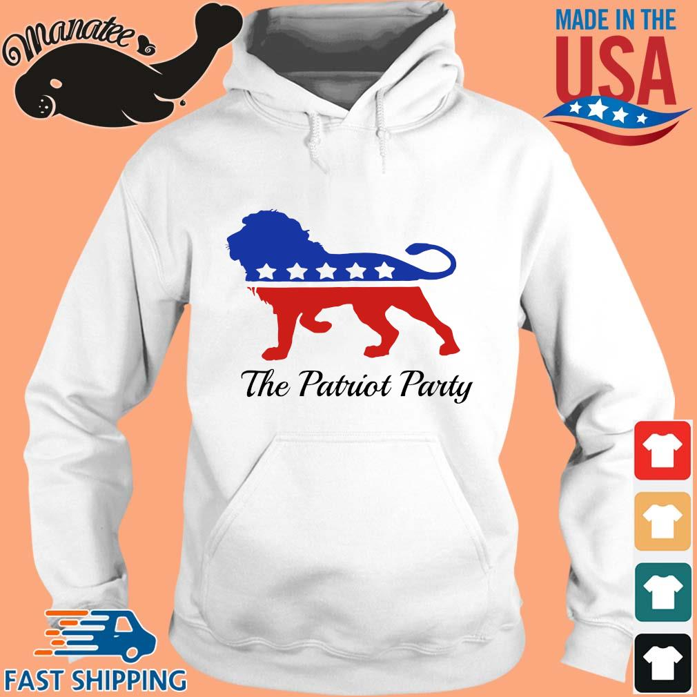Lion the patriot party Sweater hoodie trang