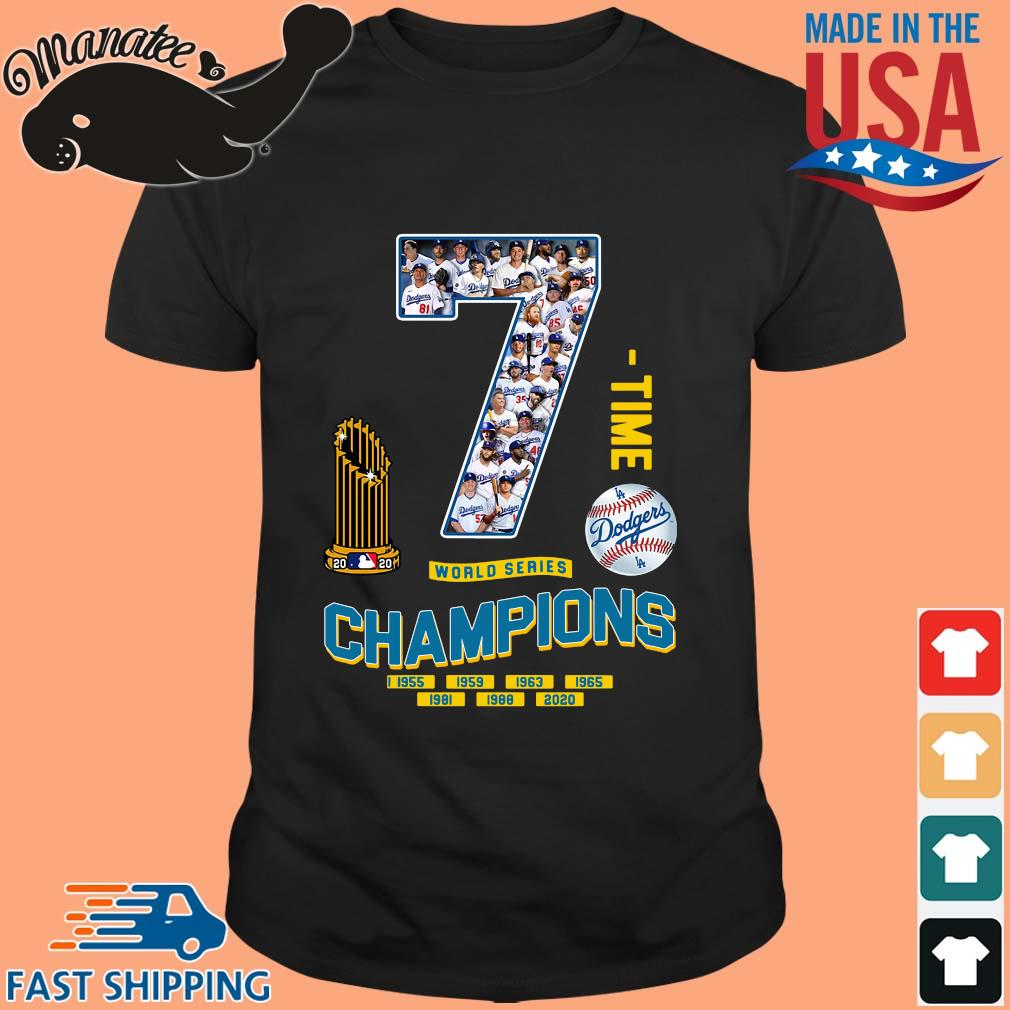Los Angeles Dodgers 7 world series Champions 1995-2020 shirt