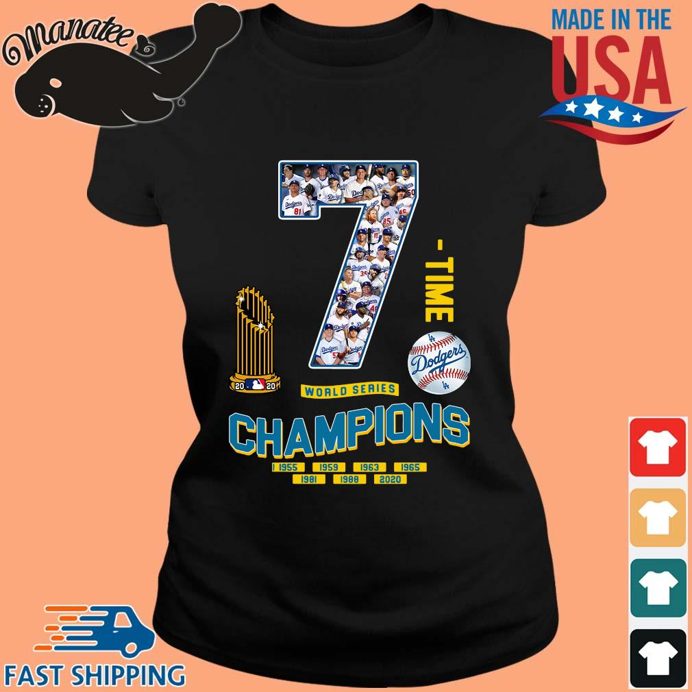 Los Angeles Dodgers 7 world series Champions 1995-2020 s ladies den