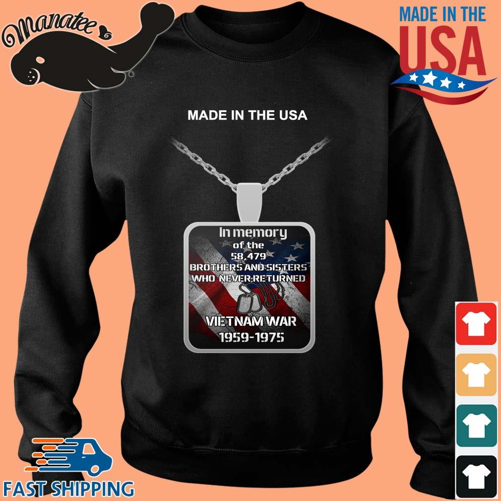 Made in the USA in memory of the 58 497 brothers and sisters who never returned Vietnam war 1959-1975 s Sweater den
