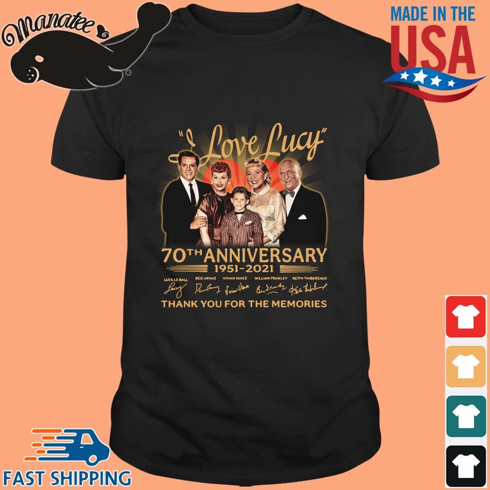Official I Love Lucy 70th anniversary 1951-2021 thank you for the memories signatures wisptee