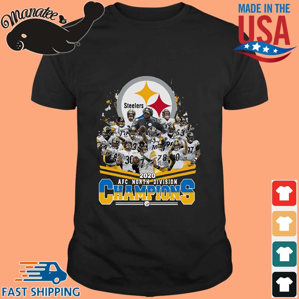 Pittsburgh Steelers 2020 AFC north division Champions signatures shirt