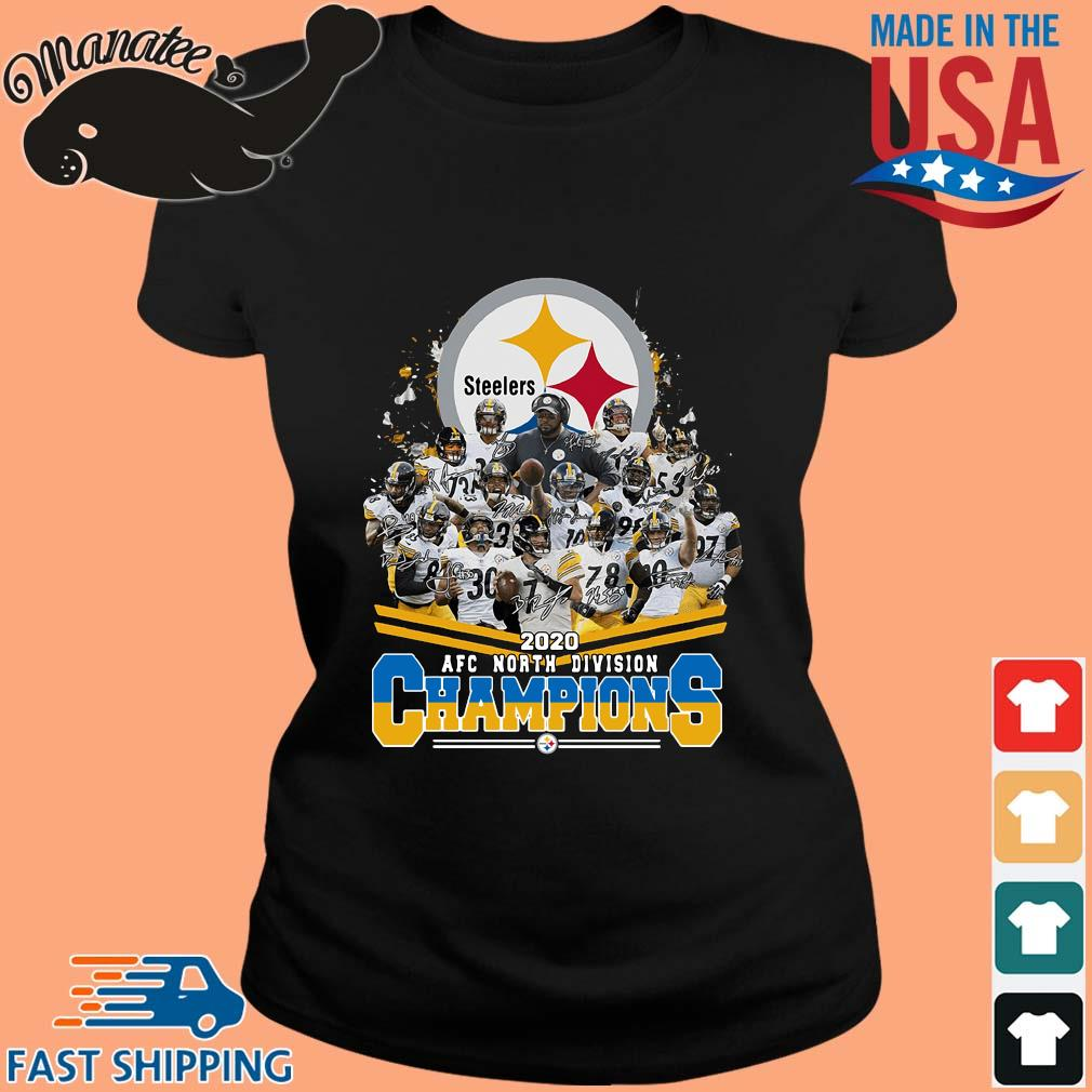 Pittsburgh Steelers 2020 AFC north division Champions signatures s ladies den