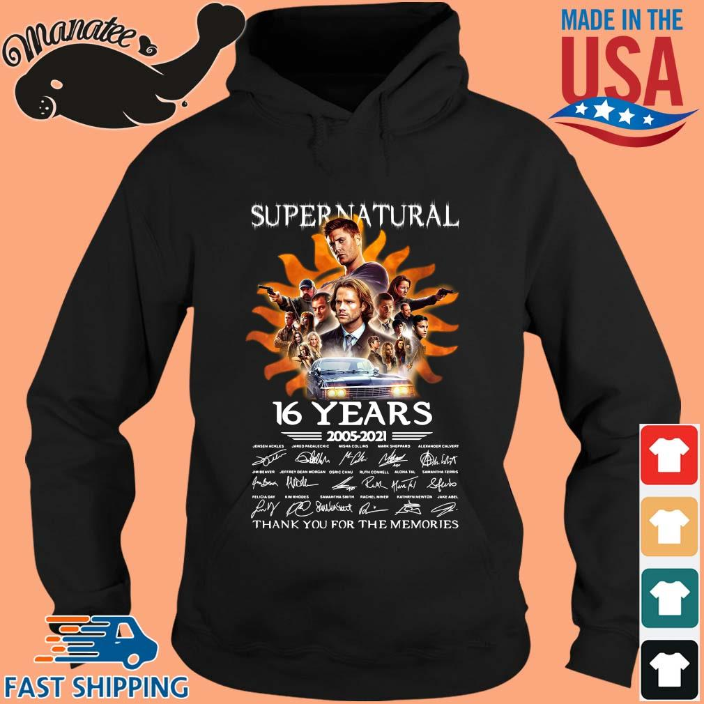 Supernatural 16 years 2005-2021 thank you for the memories s hoodie den