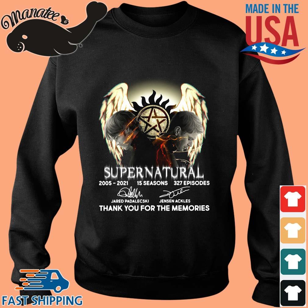 Supernatural 2005-2021 15 seasons thank you signatures s Sweater den