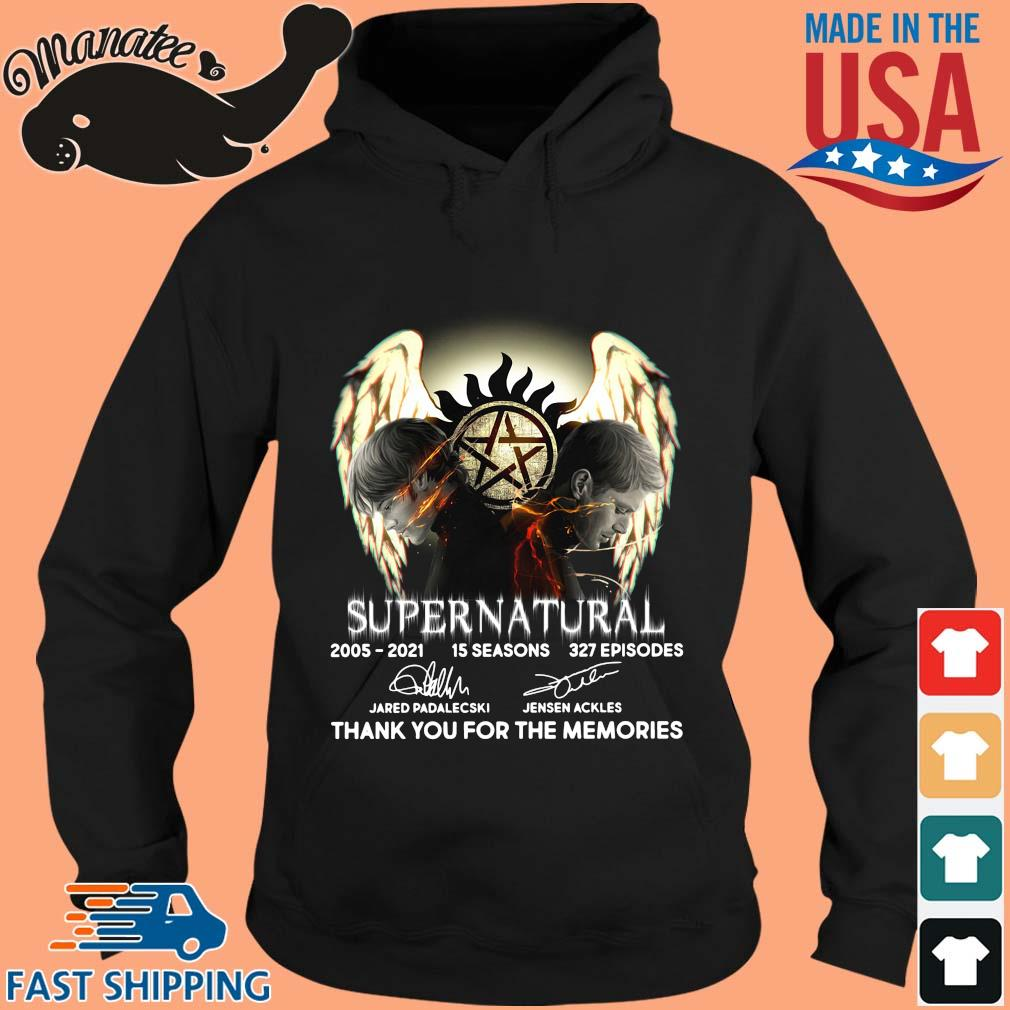 Supernatural 2005-2021 15 seasons thank you signatures s hoodie den
