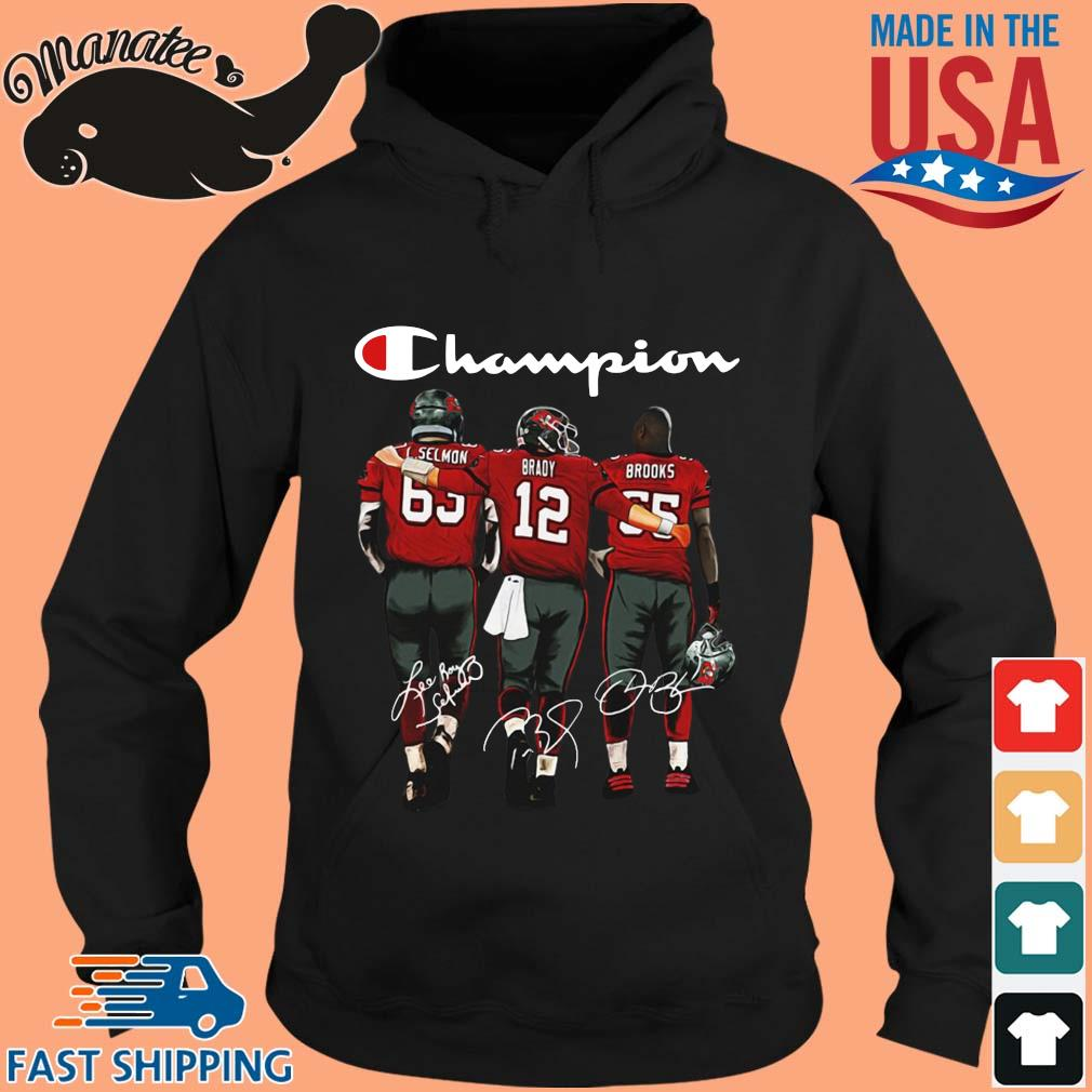 Tampa Bay Buccaneers Champion L. Selmon Brady Brooks signatures s hoodie den