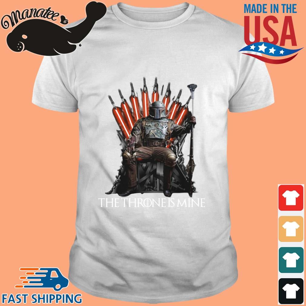 The Mandalorian the throne is mine t-shirt