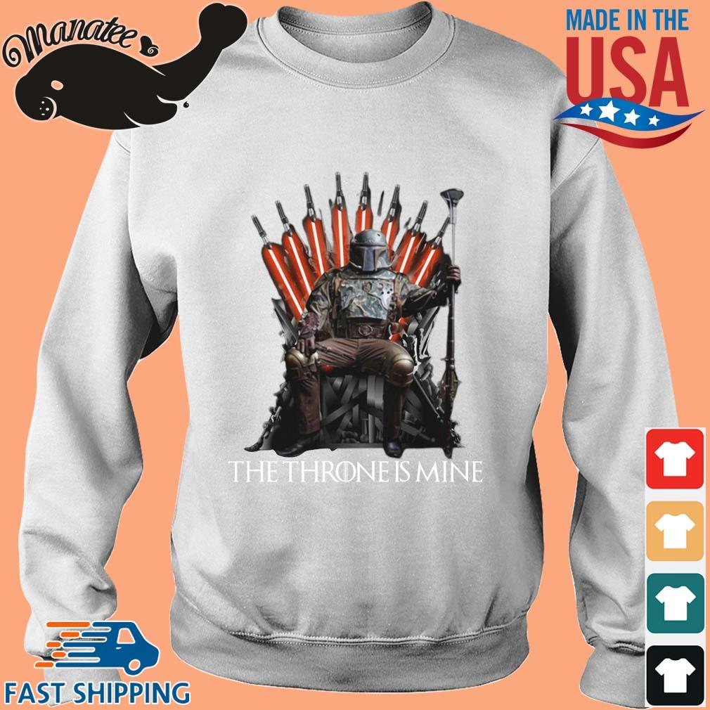 The Mandalorian the throne is mine t-s Sweater trang