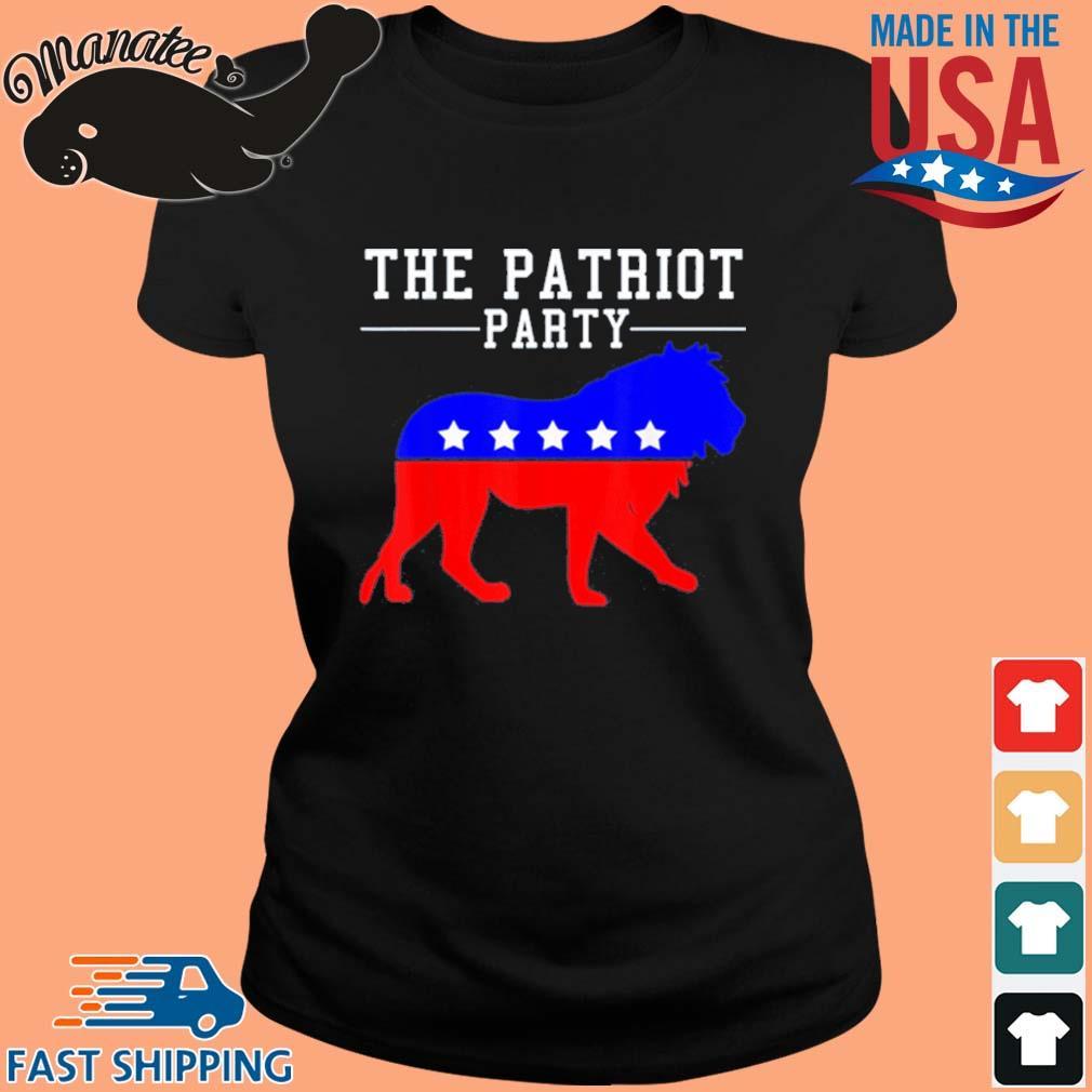 The Patriot Party Lion Shirt ladies den